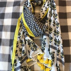 Women's Yellow Patterned Scarf
